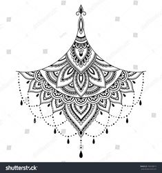 Mehndi flower pattern for Henna drawing and tattoo. Decoration in ethnic orienta… - tatoo feminina Tattoos Mandalas, Dotwork Tattoo Mandala, Geometric Mandala Tattoo, Mandala Tattoo Design, Tattoo Designs, Mandala Tattoo Back, Henna Designs, Tattoo Ideas, Simbolos Tattoo