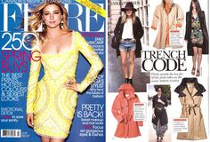 Rachel Sin Betsy Trench Dress featured in March 2012 2012 issue of Flare Magazine www.rachelsin.com