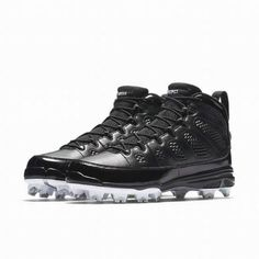 newest a05ac 6a55a Jordan IX Retro MCS Mens Baseball Cleats 15 Black White  Jordan   BaseballShoes Softball Shoes