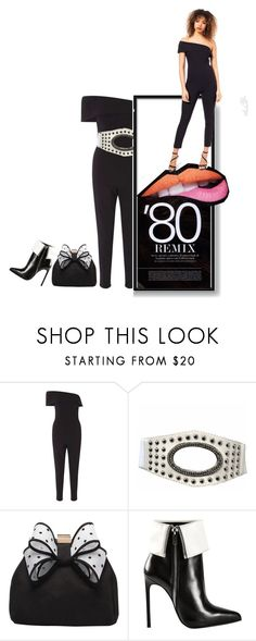 """80's Remix"" by captainsilly ❤ liked on Polyvore featuring Miss Selfridge, Miss KG and Yves Saint Laurent"