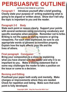 Persuasive Outline by The Writing Doctor, via Flickr