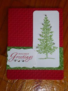 Christmas card using gumball green embossing powder, loving it!