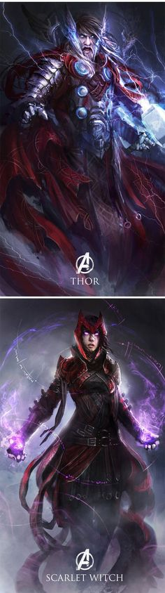 The Characters Of Avengers Age of Ultron reimagined as Medieval fantasy characters