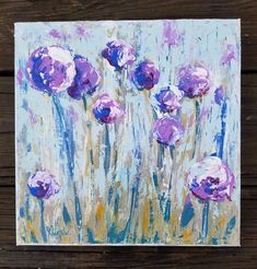 Looking like giant lollipops, what's not to love about these Allium flowers! Part of our Spring/Summer Collection for your heart and home at Central Virginia's *Original handpainted on Deep Stretched Canvas Allium Flowers, Purple Flowers, Spring Flowers, Spring Art, Spring Summer, White Brick Houses, Giant Lollipops, Happy Heart, Stretched Canvas
