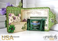 St. Patrick's Day Tag Treat Holders, A Place in Time,  by Kathy Clement, Product by Graphic 45, Photo 4