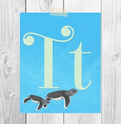 Instant Download Nursery Art Alphabet by ScubamouseStudiosJr, $5.00