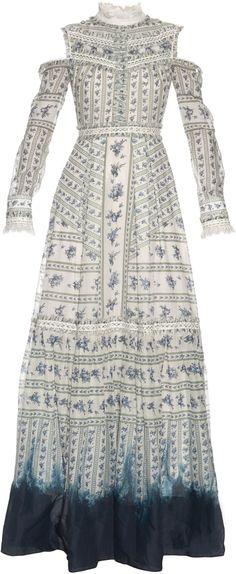 Erdem Women\'s Agnes Floral Silk Gown | Kleider | Pinterest | Silk ...