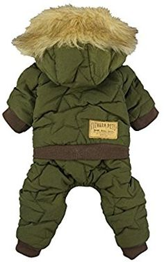 Amazon.com : Fitwarm Waterproof Pet Clothes for Dog Cold Weather Coats Windproof Fleece Hooded Jackets Green XXL : Pet Supplies