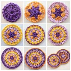 """Spring Came Designs"" Crochet Mandala Tutorial Crochet tutorial Love Crochet, Diy Crochet, Crochet Crafts, Crochet Doilies, Yarn Crafts, Crochet Flowers, Crochet Stitches, Crochet Projects, Tutorial Crochet"