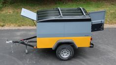 """TrailTop"" modular trailer topper building components - Page 41 - Expedition Portal Trailer Kits, Trailer Plans, Trailer Build, Utility Trailer, Small Enclosed Trailer, Harbor Freight Folding Trailer, Camper Trailers, Travel Trailers, Voyage"