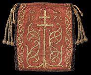 Reliquary bag [Reliquienbeutel] w/plaques and pearls (reverse), Trier, ca. 993