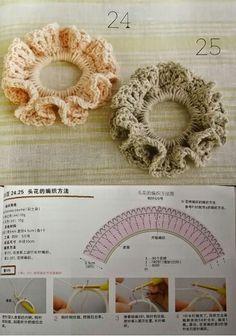Colitas para cabellos crochet