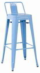 Our Galvanized Metal Low Back Bar Stool (Set of 4) has an edgy look to add a bit of flair to your restaurant, bar, outdoor patio or home seating or dining area. It sports a low back and extra wide seat for comfort, and a stackable build for your convenience