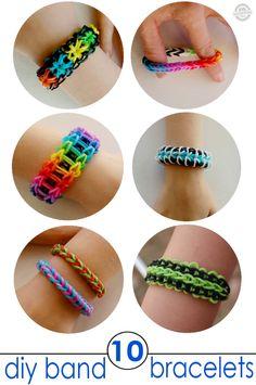 RAINBOW LOOM - Bracelet tutorials - 9 Band Bracelets