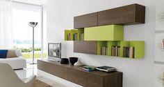 The Z 028 Living room storage system by Zalf