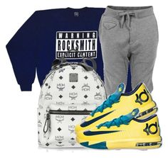 pinterest: juicedkeezy | Untitled #84 by trillest-fashionx on Polyvore featuring polyvore, fashion, style, RockSmith, Diesel, MCM and NIKE