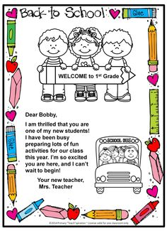 FREE Back-to-school welcome letter and postcard {Editable} (scheduled via www.ta… Sponsored Sponsored FREE Back-to-school welcome letter and postcard {Editable} (scheduled Preschool Welcome Letter, Teacher Welcome Letters, Welcome Back Letter, Welcome To Kindergarten, Letter To Teacher, Preschool Letters, Student Welcome Letter, Letter School, Preschool Ideas