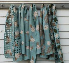 scarves felted-garden