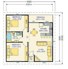 Idées de plans de maison uniques Unique House Plans, Small House Floor Plans, Cottage Floor Plans, My House Plans, Bungalow Floor Plans, The Plan, How To Plan, Small House Design, Modern House Design