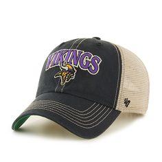 635b88cd Minnesota Vikings Tuscaloosa Clean Up Vintage Black 47 Brand Adjustable Hat