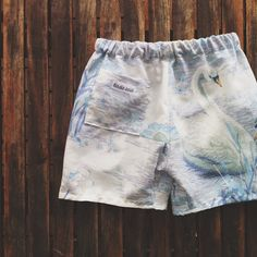 vintage sheet shorts with side pockets for collecting treasures #birdiesaid