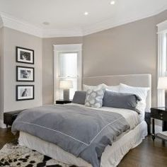 Mix warm gray and cool gray with white for a modern serene look.