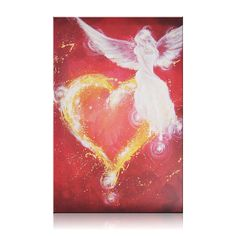 Large angel print on canvas in 16x24 inches: Angel