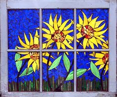 mosaic stained glass windows | Beautiful mosaic windows, each handmade and set in a unique vintage or ...
