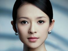 Asian celebrity. Zhang Ziyi natural makeup