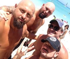 "I love how Karl and AJ are so serious but Luke and Chris are just like ""WE'RE AT THE BEACH!! ! :D"""