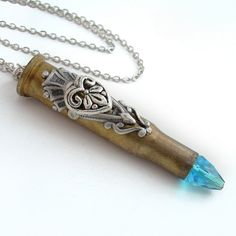 Recycled Bullet Pendant Necklace Jewelry  by TrashAndTrinkets  My new pendant!