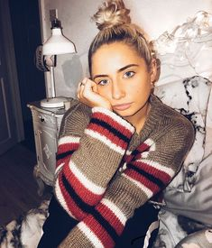 Saffron Barker, Female Character Inspiration, Female Characters, Plaid Scarf, Celebrities, Crochet, Sexy, Sweaters, Beauty