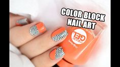 How To: Graphic Color Block Nail Art || Marine Loves Polish - YouTube
