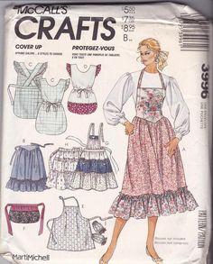 Retro Style Geometric Fabric Apron Handmade 1940/'s Vintage Style