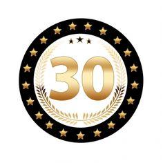 25 stuks Luxe Bierviltjes met 30 jaar opdruk. Zwart met goudkleurige uitvoering en dubbelzijdig bedrukt. Fun en Feest 30 jaar feestartikelen.