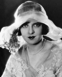 Agnes Ayres (1898-1940) - American actress who rose to fame during the silent film era. She was best known for her role as Lady Diana Mayo in The Sheik and The Son of the Sheik opposite Rudolph Valentino.