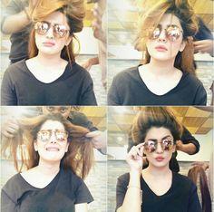 Kubra Khan with Hairstylist Babar Hair Making Selfie! ❤ #Beautiful #Lovely #PrettyGirl #KubraKhan #PakistaniActresses #PakistaniCelebrities