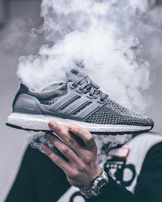 Adidas Ultra Boost 2.0 - Mystery Grey customized - 2016 (by kaczy__)