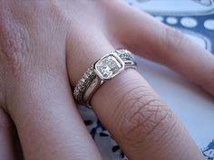 bezel set engagement rings