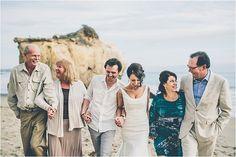 Casual Intimate Malibu Beach Elopement | Southern California Bride