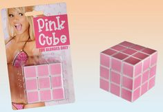Pink cube - Rubik's cube for blonds...