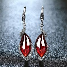 Vintage Garnet Drop Earrings - 925 Sterling Silver   #Women #Drop #Silver #Vintage #minerals #Stone #Sterling #Set #crystalsforsale #rainbowaura #Vintage #Retro #Red #Garnet #Chalcedony #Gems #Long 925 #Silver #Drop #Earrings #accessory #jewelry #trendy #casual #fashionable #glamourous #beautiful  #tagsforlikes #atperrys #onlineshop #onlineshopping #freeworldwideshipping #forsale  #onsale #sale #discounted #choiceoftheday #picoftheday #affordable #casual #formal  #healingcrystal…