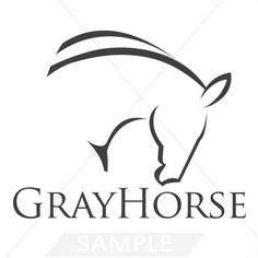 Premade Logo Design Horse... logo design language: negative space and minimalist smooth lines