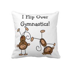 I Flip Over Gymnastics Pillow