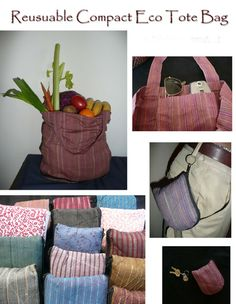 Handmade Reusuable Eco Friendly Tote Bag, starting at $5.