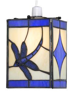 f5f1cb9e86c4 Dragonfly Blue Tiffany Lamp Shade - Oaks Lighting