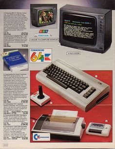 A Commodore 64 and peripherals ad. I used to read and reread the specs and stare at the photos before I had a C64.