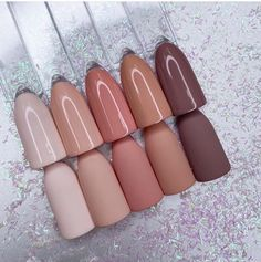 Acrylic Nails Nude, Simple Acrylic Nails, Square Acrylic Nails, Acrylic Nail Designs, Dark Nude Nails, Matte Nails, Nude Nail Polish For Dark Skin, Acrylic Nails For Fall, Matte Nail Colors