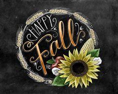 Fall Sign Happy Fall Yall Fall Wreath Chalkboard por TheWhiteLime