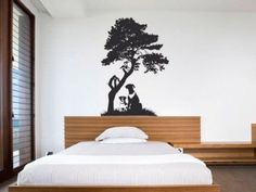 Amazon.com: Dogs And Tree Vinyl Wall Art Decal Sticker: Home Improvement